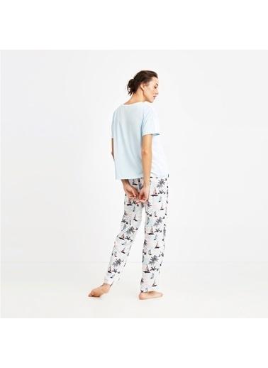 Nautica W127PJTK.MAVI Nautıca Kadın Mavi Pijama Takımı Mavi
